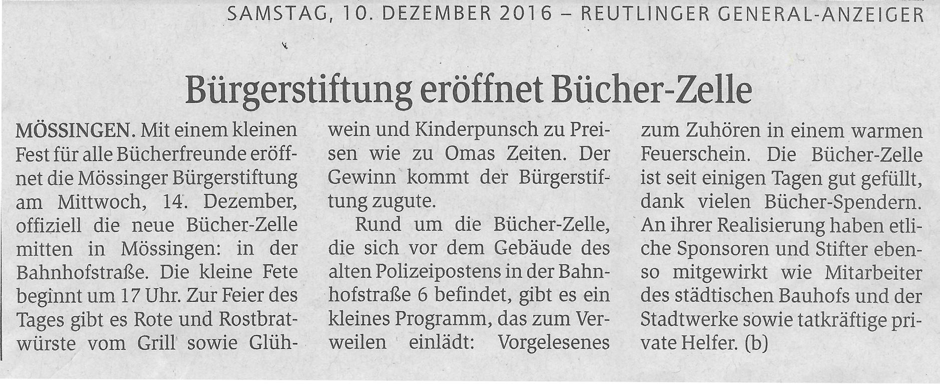 Presse archives b rgerstiftung m ssingen for Reutlinger general anzeiger immobilien
